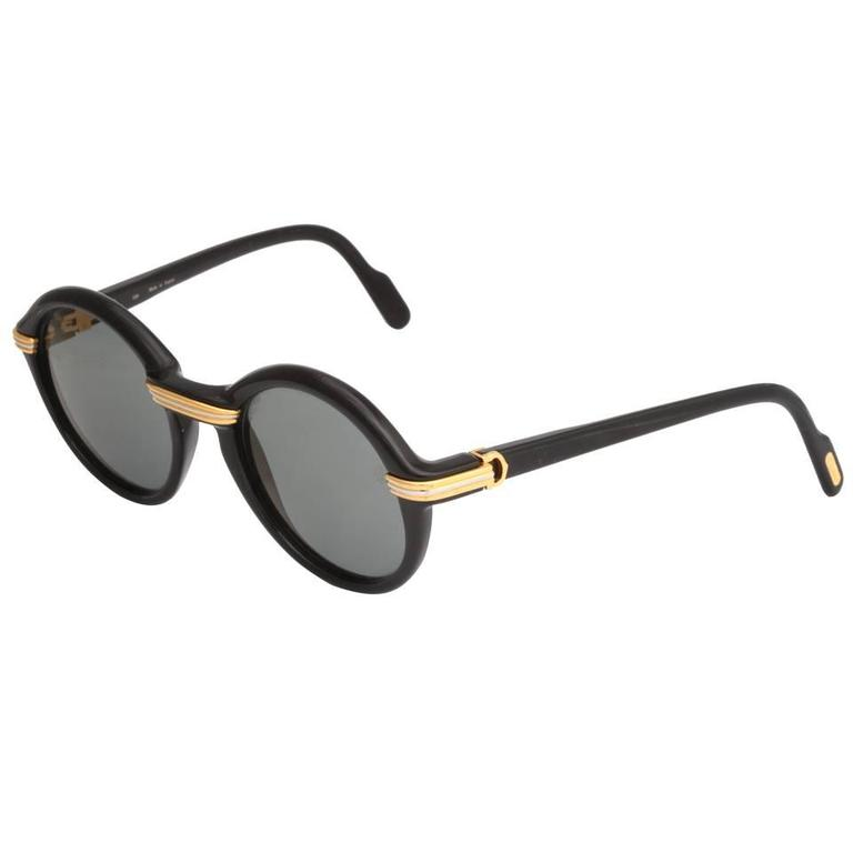 Cartier Vintage Black Cabriolet Sunglasses