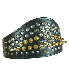 Comme des Garcons / Fleet Ilya AD 2013 Leather Studded Head Band