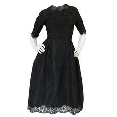 Dated 1960 Sophie Gimbel Attr Saks 5th Ave Soutache & Silk Dress
