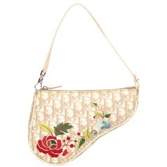 Floral Diorissimo PVC Mini Saddle - Christian Dior