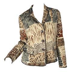 Moschino Animal Printed Jacket