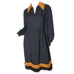 1960s Oscar de la Renta Crepe Dress