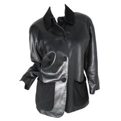 Yves Saint Laurent Black Leather Jacket