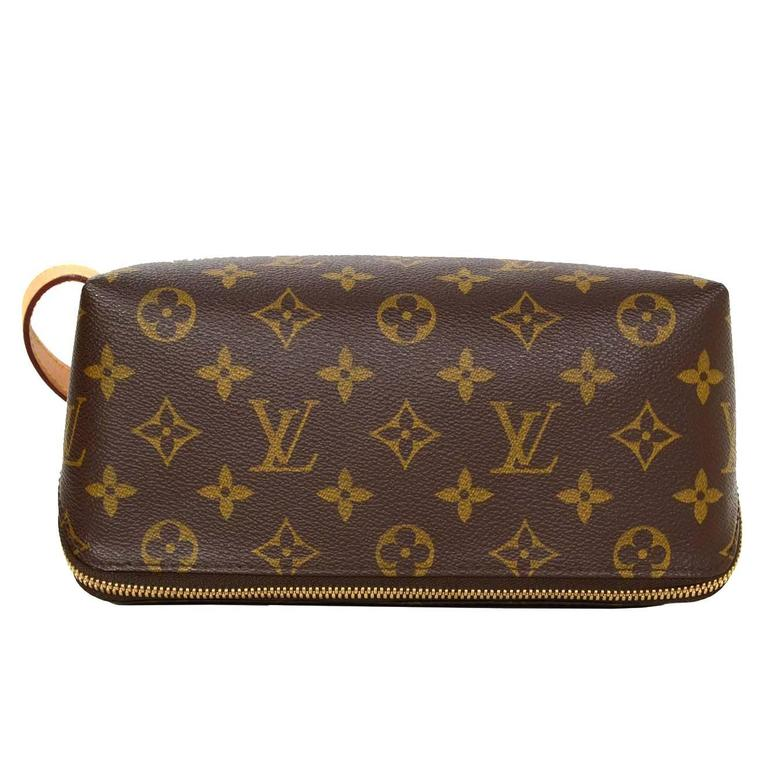 bf0562032da1 Louis Vuitton Coated Canvas Monogram Shoe Bag and Kit GHW For Sale ...