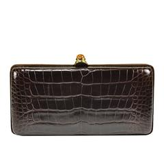 Iconic Oscar de la Renta Alligator clutch