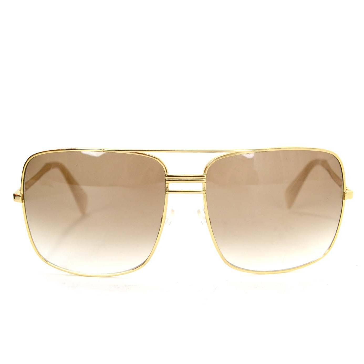 Celine Gold Frame Sunglasses : Celine Gold CL41808/S Aviator Sunglasses For Sale at 1stdibs