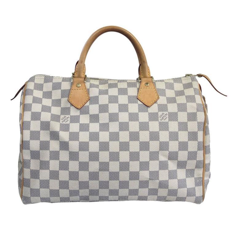 Louis Vuitton Damier Azur Sdy 30 Handbag In Dust Bag For