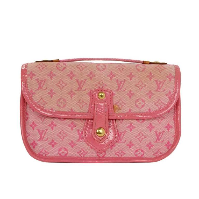 Louis Vuitton Pink Mini Lin Mary Kate Pochette GHW For Sale