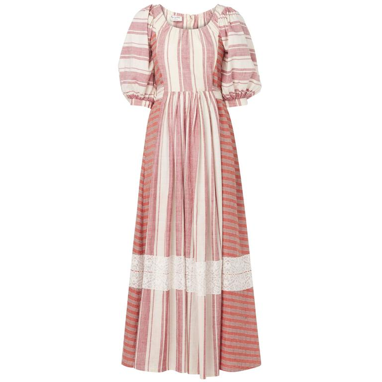 Thea Porter couture peasant dress, circa 1975