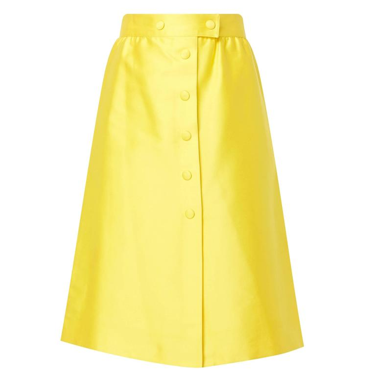 Courrèges yellow skirt, circa 1970 For Sale