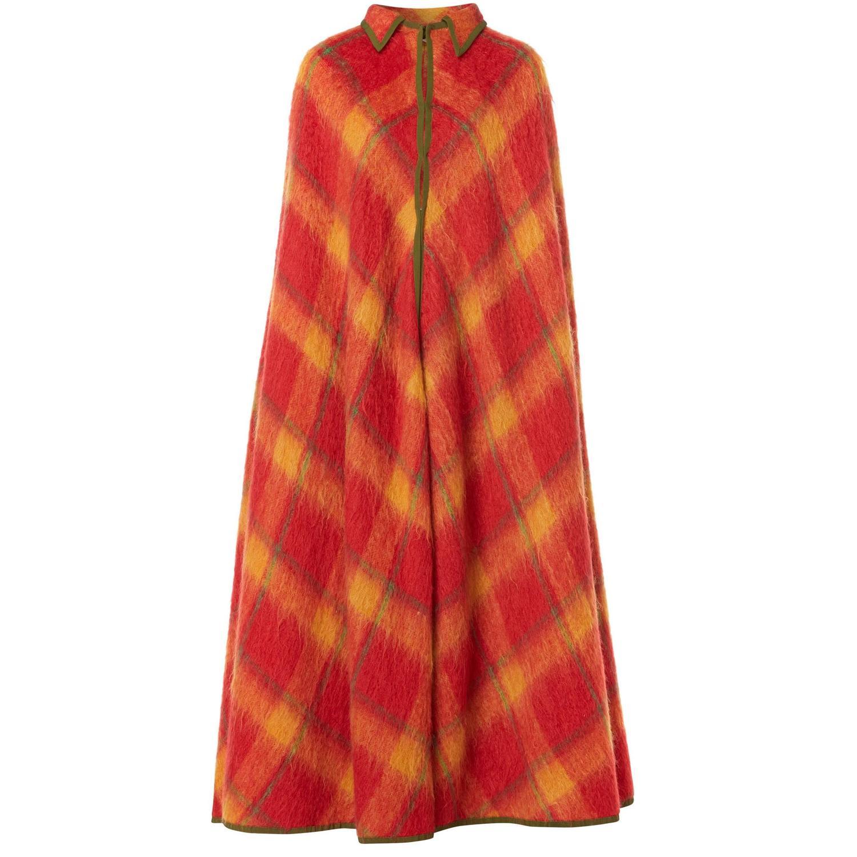Lanvin haute couture orange tartan cape circa 1968 for for Haute couture sale