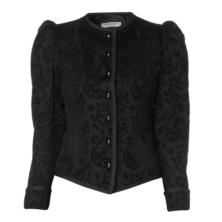 Yves Saint Laurent black jacket, circa 1977