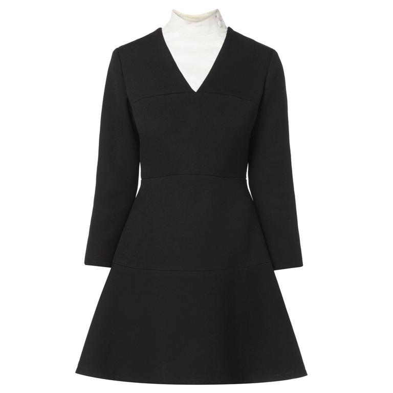 Pierre Cardin black dress, circa 1967 For Sale