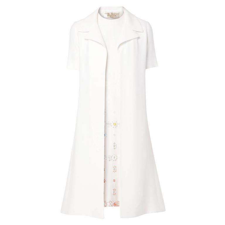 Jean Patou white dress & coat, circa 1968 1