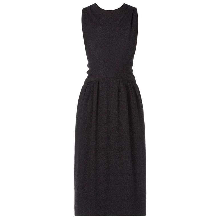 Guy Laroche haute couture black dress, circa 1965