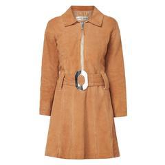 Pierre Cardin brown suede dress, circa 1968