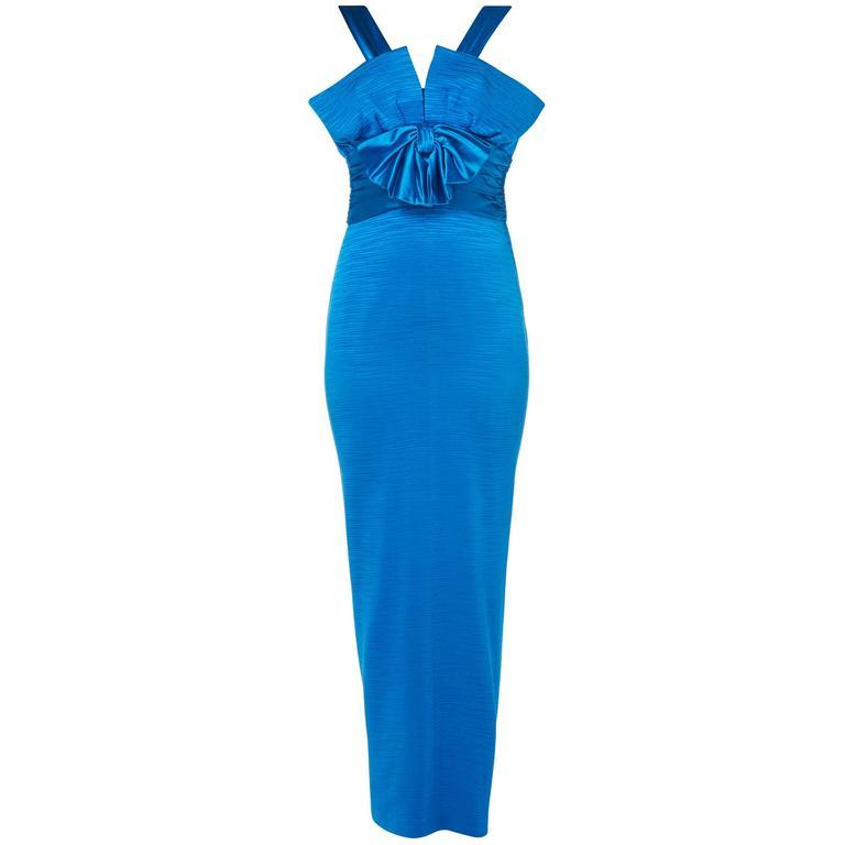 Nina Ricci blue gown, circa 1975