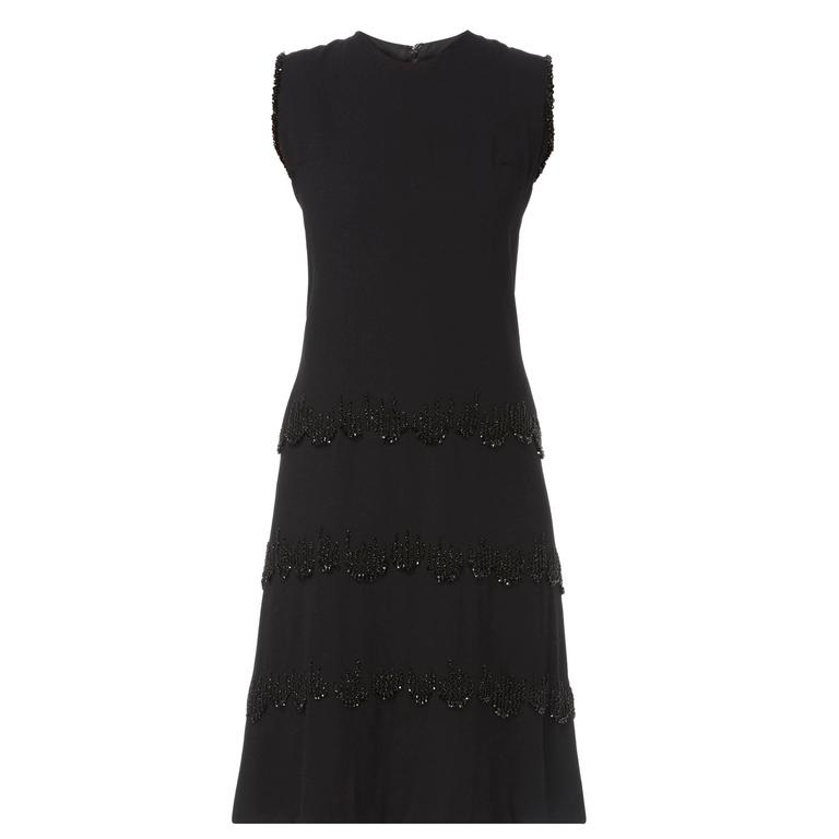 Carven haute couture black dress, circa 1963 For Sale