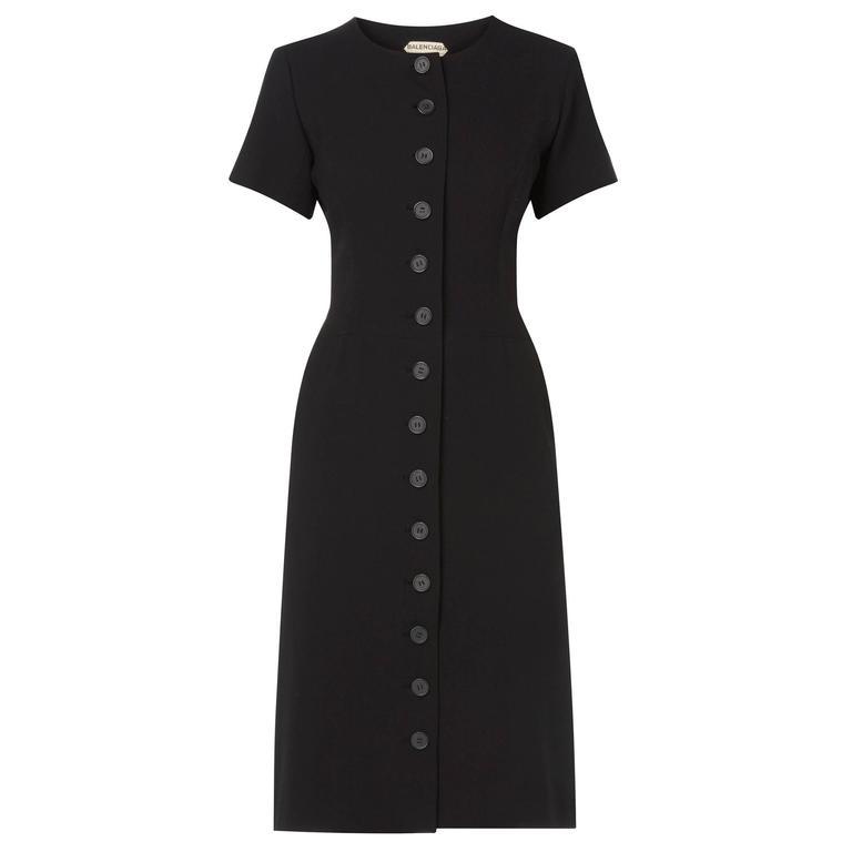 Balenciaga haute couture black dress, circa 1958