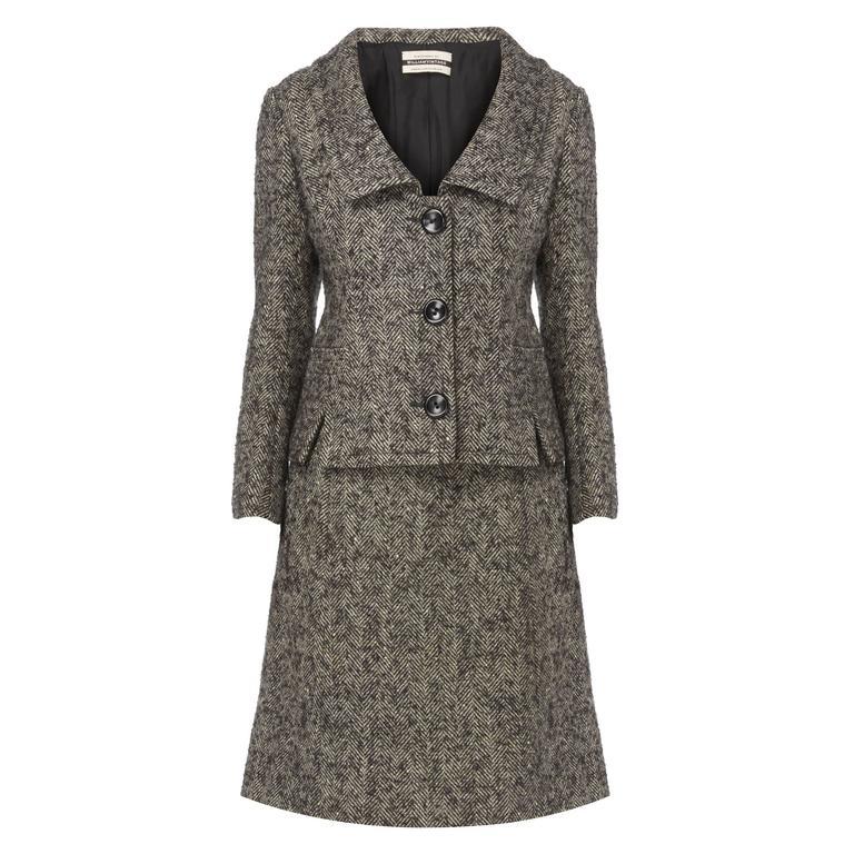 Nina Ricci haute couture grey skirt suit, circa 1958 1