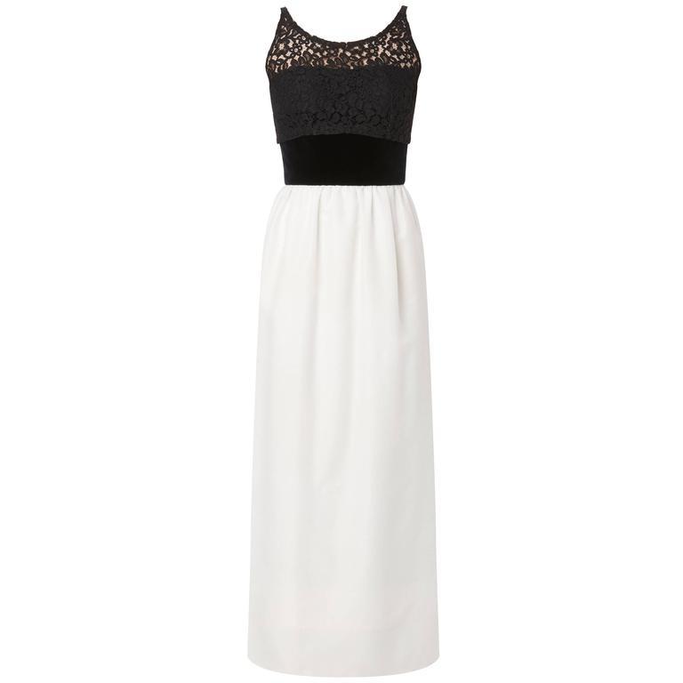 Jacques Heim haute couture black & white dress, circa 1960