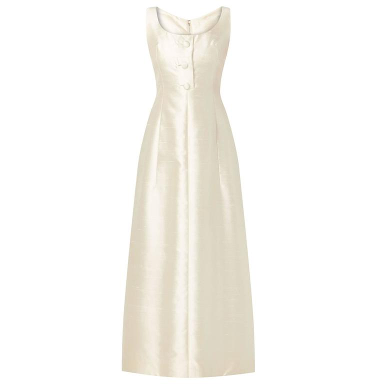 Malcolm Starr ivory silk dress, circa 1965