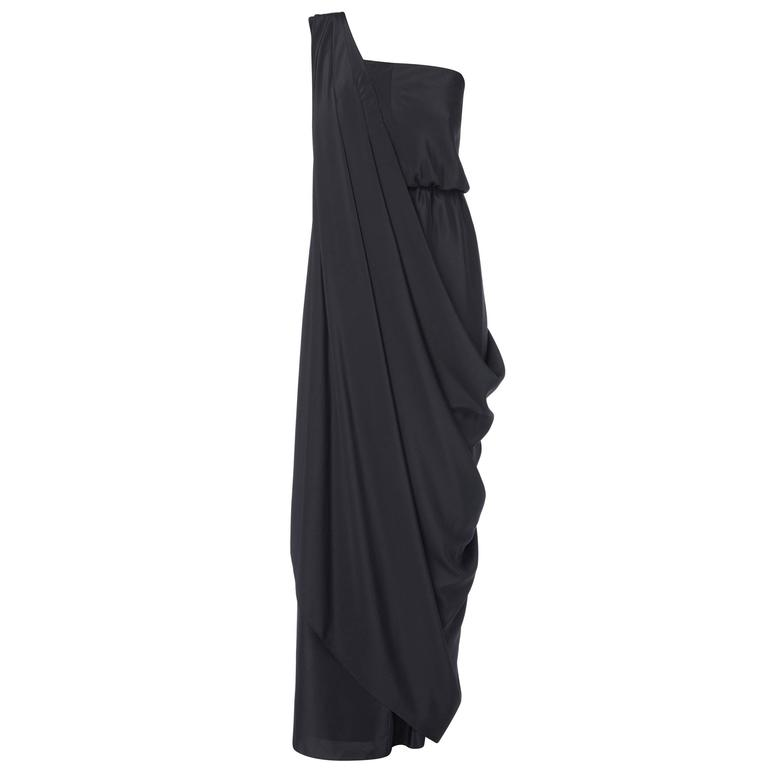 Halston black dress, circa 1975