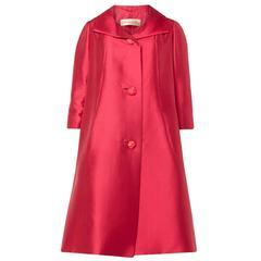 Dior Haute couture pink silk coat, Spring/Summer 1963