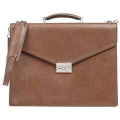 Salvatore Ferragamo Leather Briefcase Shoulder Bag