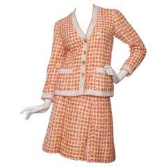 1960s Chanel Haute Couture Boucle Skirt Suit