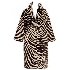 Dolce & Gabbana Cotton Velvet Zebra Print Coat, Autumn - Winter 1996