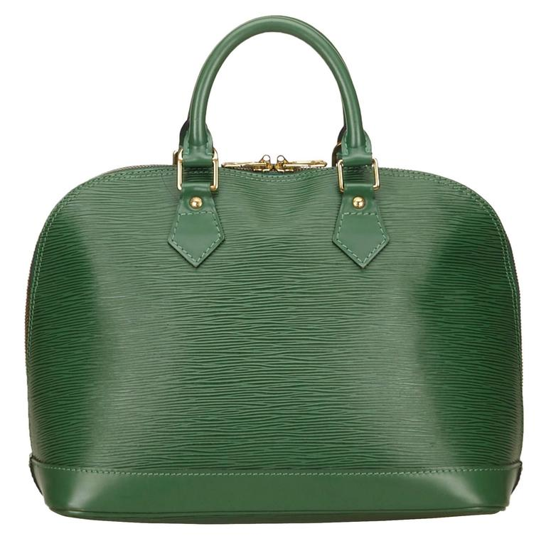 Louis Vuitton Green Epi Alma PM Hand Bag 1