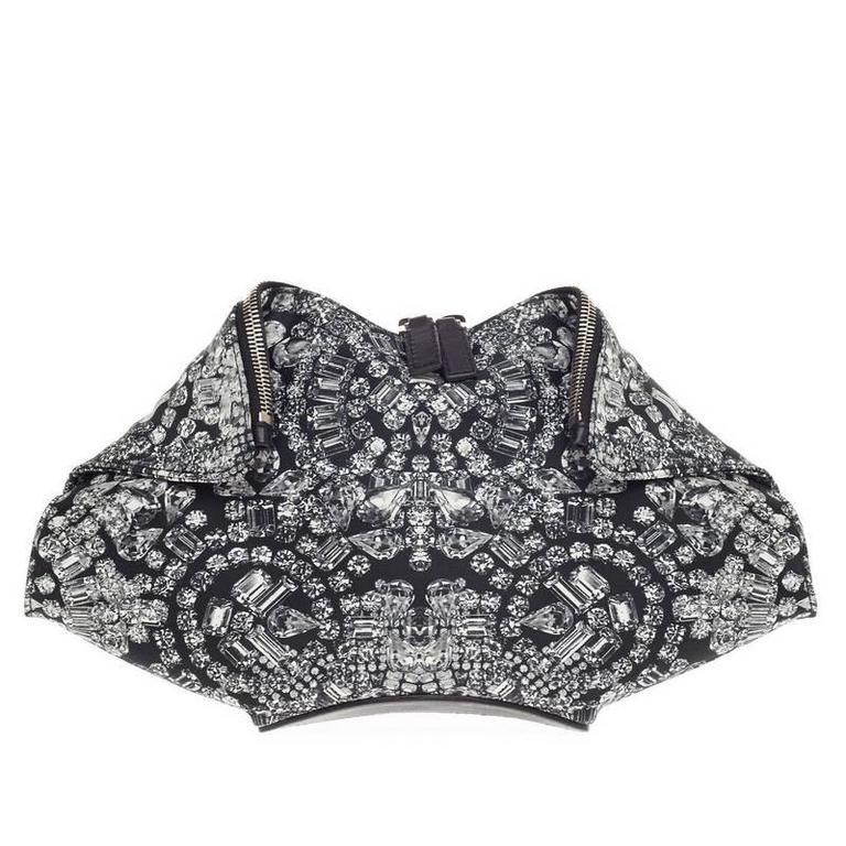 Alexander McQueen De Manta Clutch Print Textile Medium 1