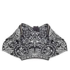 Alexander McQueen De Manta Clutch Print Textile Medium