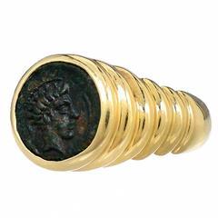 Bulgari Ancient Coin Gold Ring