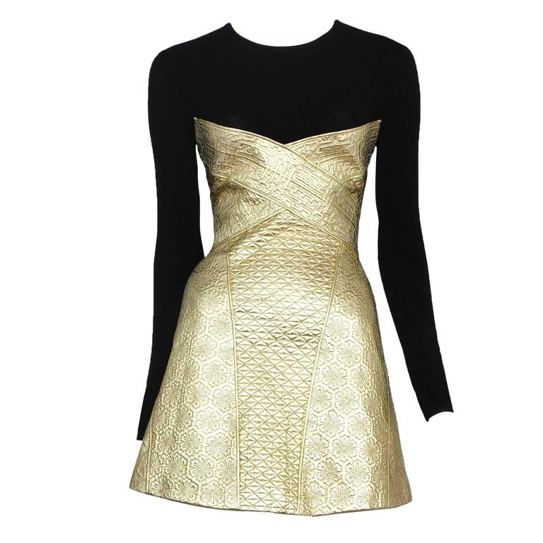 McQueen Gold Dress  For Sale