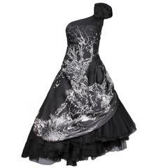 McQueen Taffeta Runway Gown