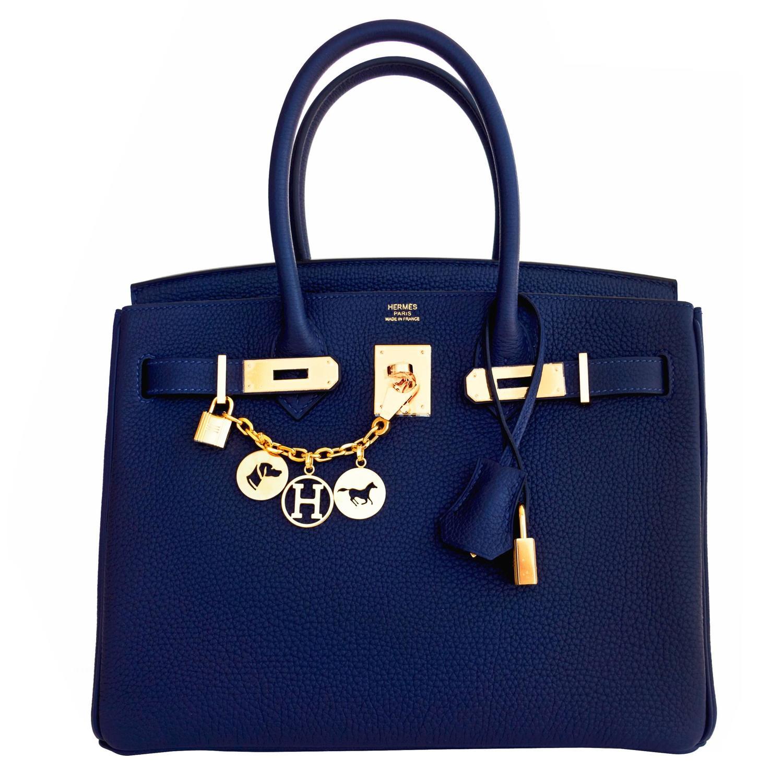 birkin handbag price - Hermes Navy Blue Nuit Togo 30cm Birkin Gold Hardware Bleu Nuit ...