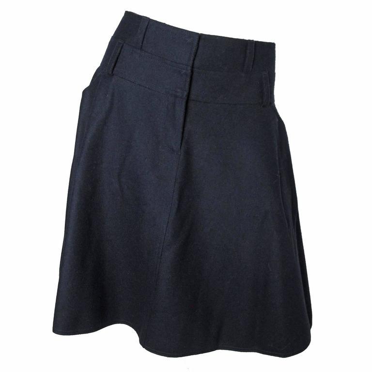 Fendi Wool Felt Skirt