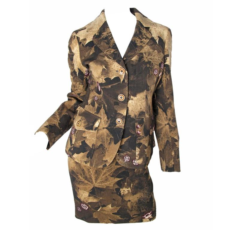 Moschino Couture Leaf Print Suit