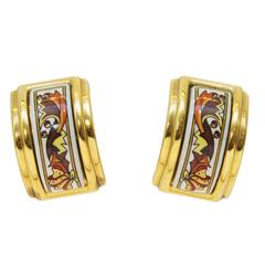 1990's Hermes Enamel Earrings