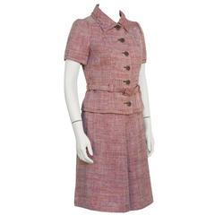 1960's Guy LaRoche Tweed Skirt Suit