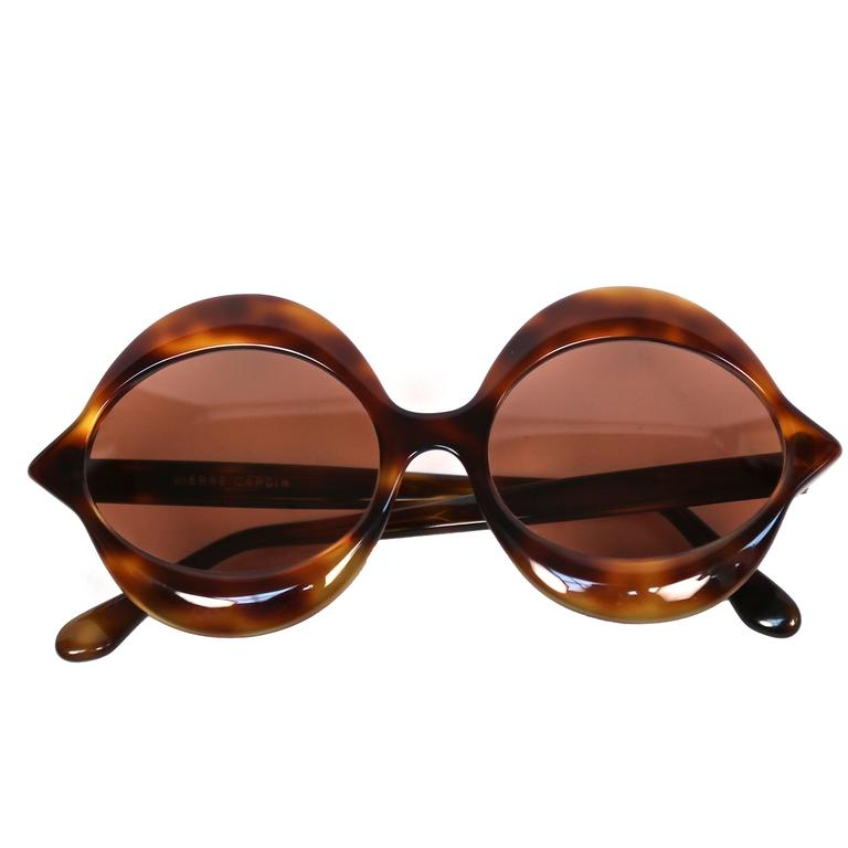 1970's PIERRE CARDIN tortoise 'lips' sunglasses For Sale