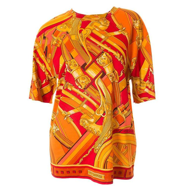 """Hermes """"Rythmes"""" Print Tshirt 1"""