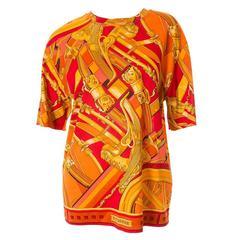 """Hermes """"Rythmes"""" Print Tshirt"""