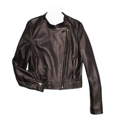 Prada Black Nappa Moto Jacket