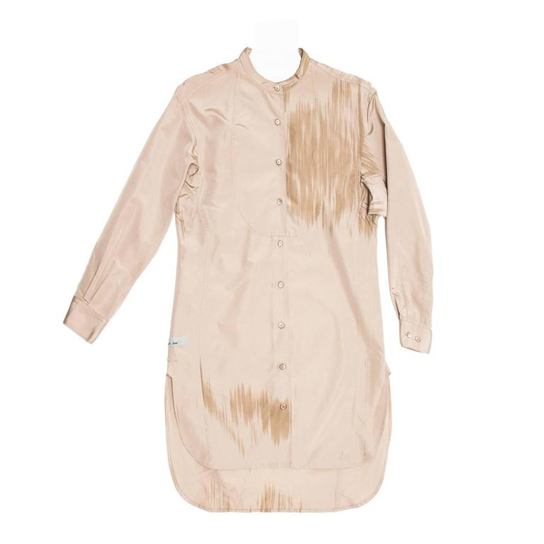 Prada Taupe & Paint Brush Detail Tunic For Sale