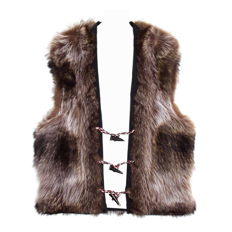 Thom Browne Raccoon Fur Vest