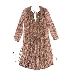 E2 Multicolor Vintage Fringe Dress