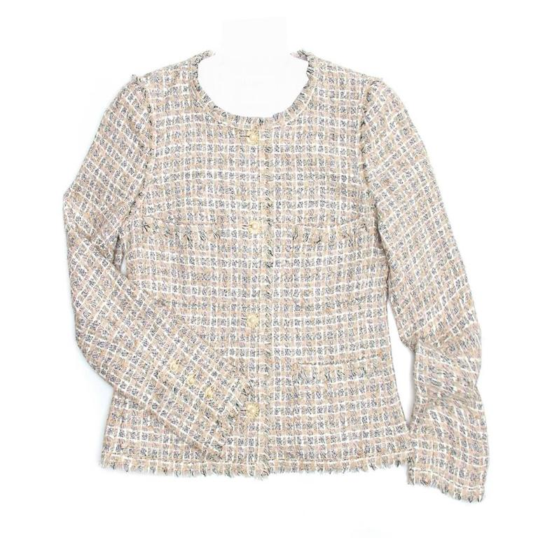 Chanel Multicolor Cotton Tweed Jacket 1